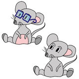 The grey mouse Royalty Free Stock Photo