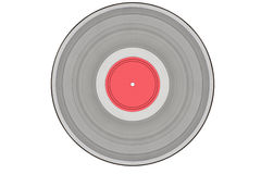 Grey music record isolated on white Royalty Free Stock Image