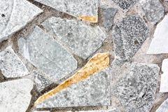 Grey Natural Stone Plates Fotografie Stock Libere da Diritti