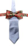 Grey necktie and red bow tie Royalty Free Stock Photos