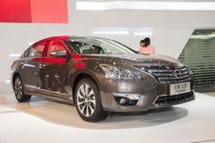 Grey nissan teana car Stock Images