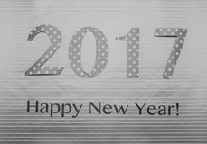 Grey number 2017 made of wraping paper Stock Photo