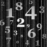 Grey numbers background Stock Photography
