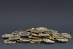 grey odizolowywający pieniądze stos Zdjęcia Royalty Free