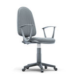 Grey office chair on a white Stock Photography
