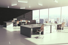 Grey office side Royalty Free Stock Images
