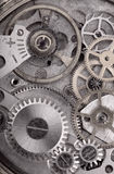 Grey old and dirty pinion mechanism Royalty Free Stock Image