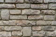 Grey old stone wall details royalty free stock photo