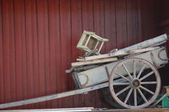 Grey old wooden trailer, Norway Royalty Free Stock Photography