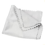 Grey Optical Cleaning Cloth Isolated op Witte Achtergrond royalty-vrije stock foto