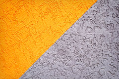 Grey and orange concrete wall texture Royalty Free Stock Image