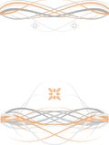 Grey Orange Symmetric Floral Abstract Background Stock Photos