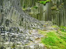 Columnar jointed organ pipe rock formation in Czech Republic royalty free stock photos