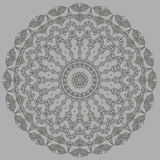 Grey Oriental Geometric Ornament Images stock
