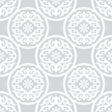 Grey Ornament inconsútil Imagen de archivo