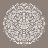 Grey Ornamental Line Pattern Image libre de droits
