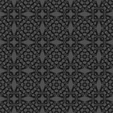 Grey Ornamental Seamless Line Pattern Image libre de droits