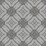 Grey Ornamental Seamless Line Pattern Photographie stock