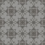 Grey Ornamental Seamless Line Pattern Photographie stock libre de droits