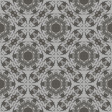 Grey Ornamental Seamless Line Pattern Image stock
