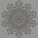 Grey Ornamental Seamless Line Pattern Image stock
