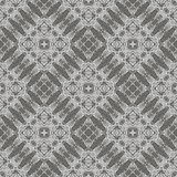 Grey Ornamental Seamless Line Pattern Images libres de droits