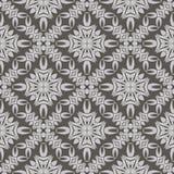 Grey Ornamental Seamless Line Pattern Photographie stock libre de droits