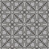 Grey Ornamental Seamless Line Pattern Photo libre de droits