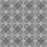 Grey Ornamental Seamless Line Pattern Images libres de droits