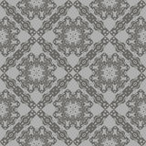 Grey Ornamental Seamless Line Pattern Image libre de droits