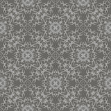 Grey Ornamental Seamless Line Pattern Photo stock