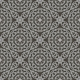 Grey Ornamental Seamless Line Pattern Photos libres de droits