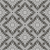 Grey Ornamental Seamless Line Pattern Imagem de Stock Royalty Free