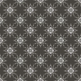 Grey Ornamental Seamless Line Pattern Fotografia de Stock Royalty Free
