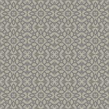 Grey Ornamental Seamless Line Pattern Foto de Stock