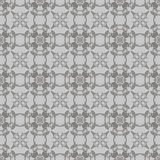 Grey Ornamental Seamless Line Pattern Photos stock