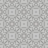 Grey Ornamental Seamless Line Pattern Imagem de Stock