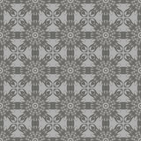 Grey Ornamental Seamless Line Pattern Photo libre de droits