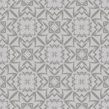 Grey Ornamental Seamless Line Pattern Stock Image