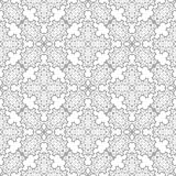 Grey Ornamental Seamless Pattern Texture sans fin Ornement géométrique oriental Photographie stock
