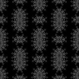 Grey Ornamental Seamless Pattern Texture sans fin Ornement géométrique oriental Photo stock