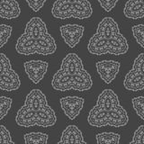 Grey Ornamental Seamless Pattern Texture sans fin Ornement géométrique oriental Photos stock