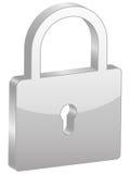 Grey padlock symbol Stock Images