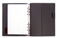 Grey page of note. Grey colour page of note book on white isolate Stock Photo