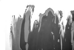 Grey paint brush spot stroke on white. Grey paint brush spot stroke on isolated white background vector illustration