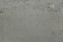 Grey Paint Peeling Off the Wall Stock Image