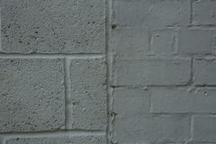 Grey painted brick and block background Stock Photos