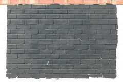 Grey painted brick wall background Stock Photography