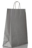 Grey  paper bag Royalty Free Stock Photo