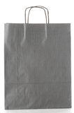 Grey  paper bag Royalty Free Stock Photography